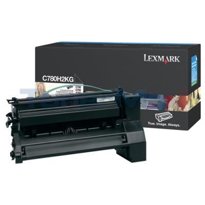LEXMARK C780 X782 TONER CARTRIDGE BLACK 10K